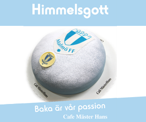 Malmö FF tårta Cafe Mäster Hans